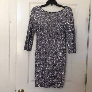 Aqua sequin dress size 6